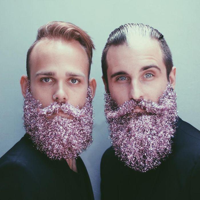Buh-bye beard baubles, hello 'glitter beards'
