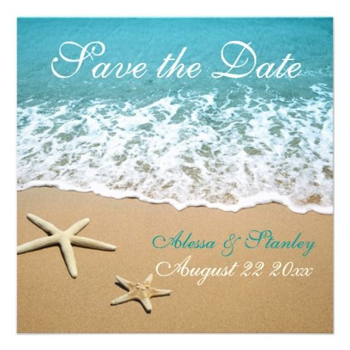 Beach wedding invite idea