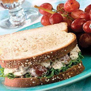 Homemade Chicken Salad Sandwiches - 300 calories