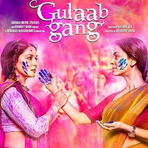 Hindi movie Gulaab Gang 2014, colors of war... #madhuridixit #juhichawla #gulaabgang