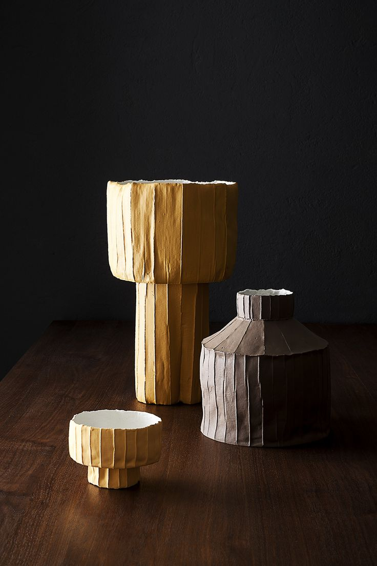 Paola Paronetto's Cartocci Sculptures of Paper + Clay