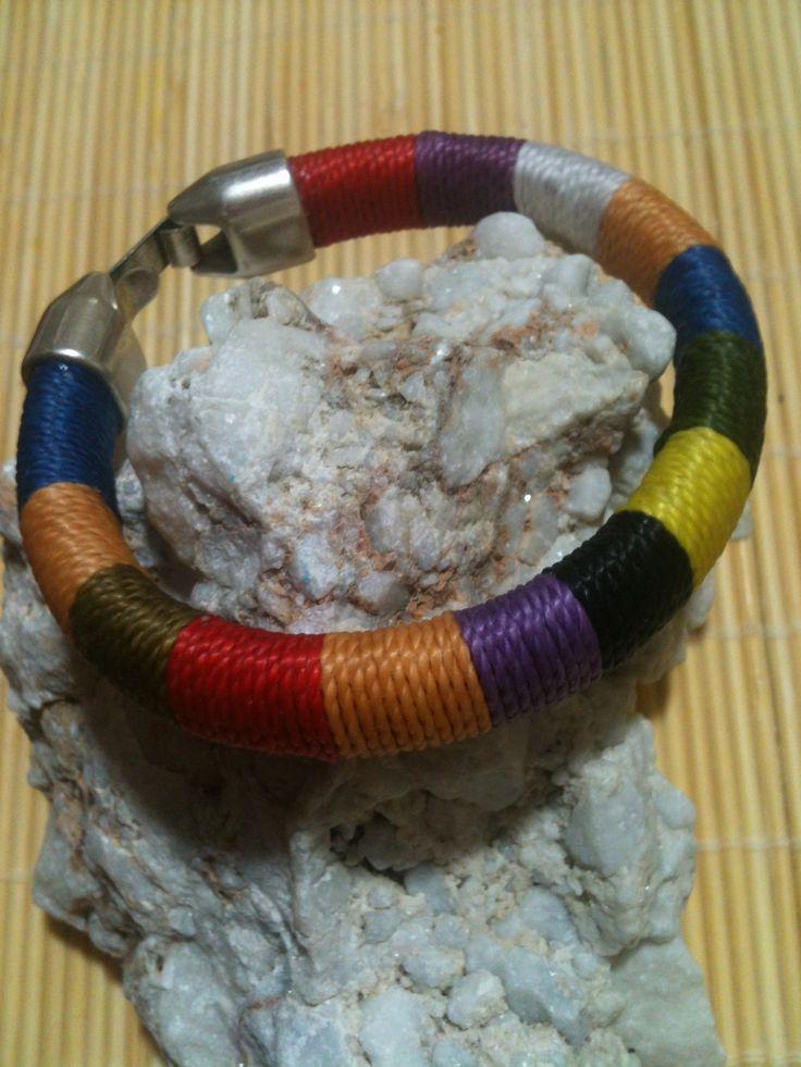 pulsera de colores con cierre de zamak - HANDMADE BRACELET