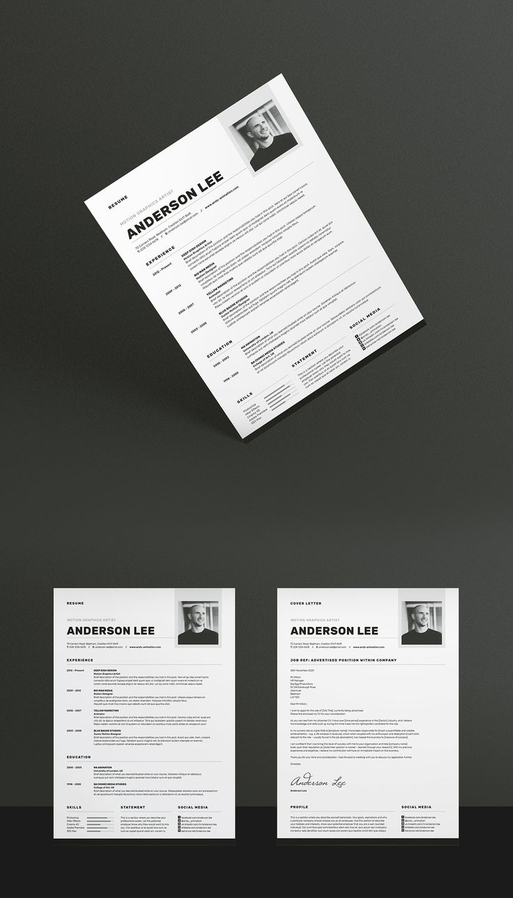 For those looking for a professional resume