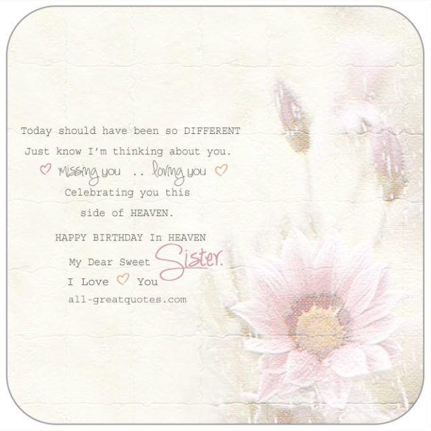 Happy Birthday In Heaven My Dear Sweet Sister   all-greatquotes.com #HappyBirthday #Heaven #Sister