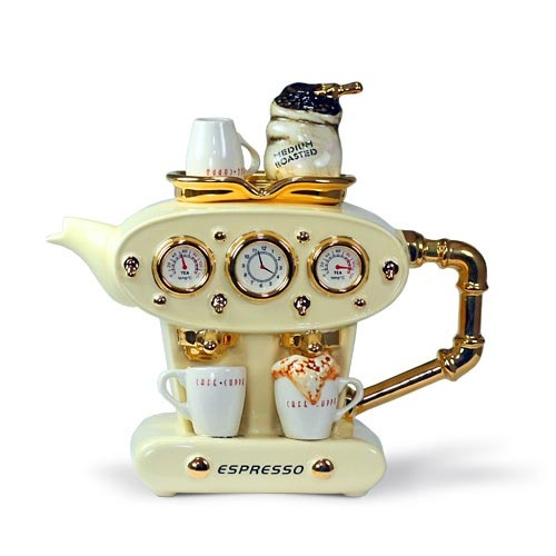 tea or coffee?Espresso Machine, Teas Time, Teas Cups, Machine Teapots, Teas Pots, Maker Teapots, Teas Parties, Antiques Teapot, Design Teapots