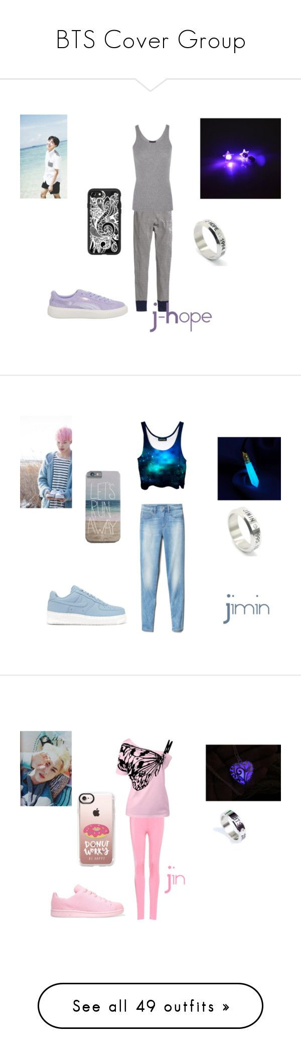 """""""BTS Cover Group"""" by boyz-with-fun on Polyvore featuring H&M, ATM by Anthony Thomas Melillo, Puma, Casetify, Gap, NIKE, Balenciaga, adidas Originals, M&Co and Alberto Biani"""