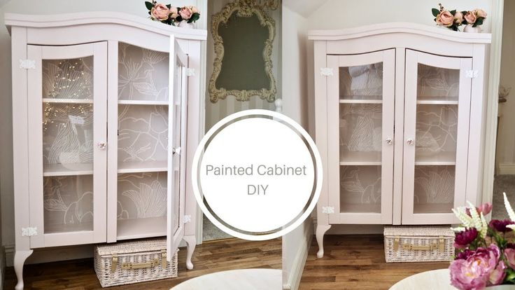 How to paint a china cabinet, Shabby chic cottage style