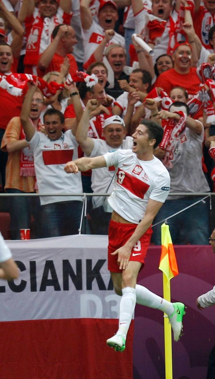 Radość Lewandowskiego #euro2012 #gol