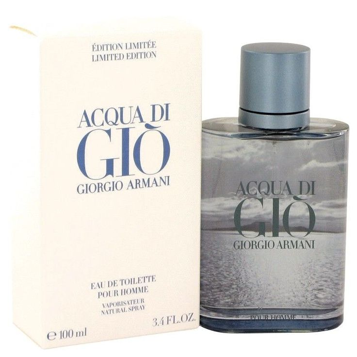 Acqua Di Gio Blue Edition by Giorgio Armani 3.4 oz Eau De Toilette Spray Men NIB #GiorgioArmani