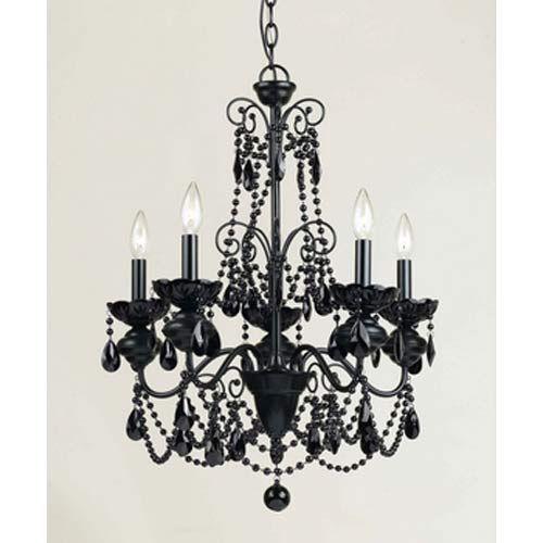 Black Chandlier Great For The Guest Bedroom Bellacor Mischief 5 Light Chandelier
