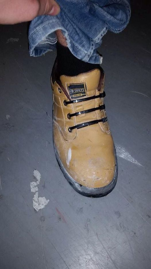 Tradies Shoe Laces smart thinking 99  #tradies #shoes