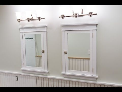 Building and Installing Craftsman Style Medicine Cabinets - YouTube