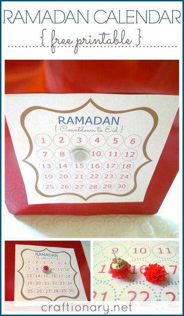 Ramadan Calendar Printables : Ramadan calendar free printable count eid and