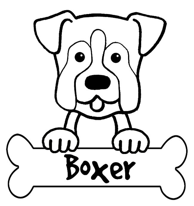 Chihauhau Kleurplaat Boxer Puppy Coloring Pages