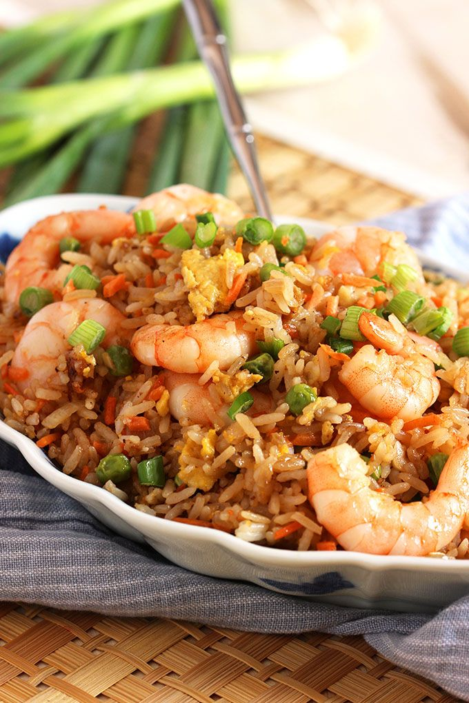 Ready in minutes, this Easy Shrimp Fried Rice recipe is better than take out. So simple and quick to make. | @suburbansoapbox