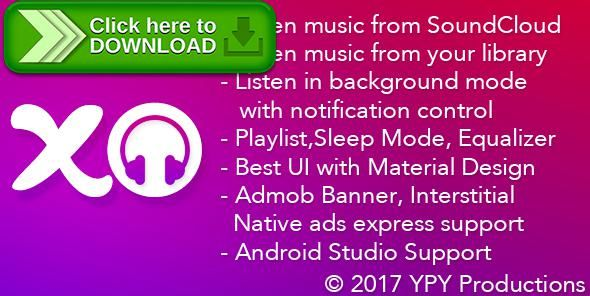 [ThemeForest]Free nulled download xMusic - Android Online Offline Music Player from http://zippyfile.download/f.php?id=59191 Tags: ecommerce, material design, music player, native ads express, offline music player, offline online music, online music player, soundcloud, soundcloud api, soundcloud player, stream music, top itunes, xmusic, xmusicplayer, ypyproductions