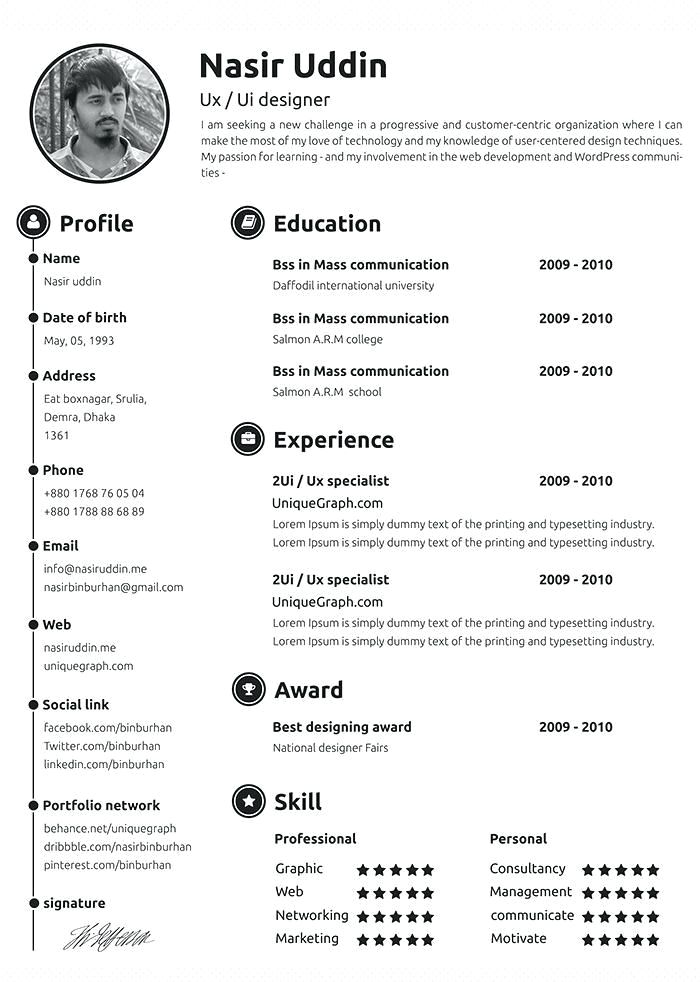 Professional Resume Samples Free Sample Templates Format Basic Examples Job
