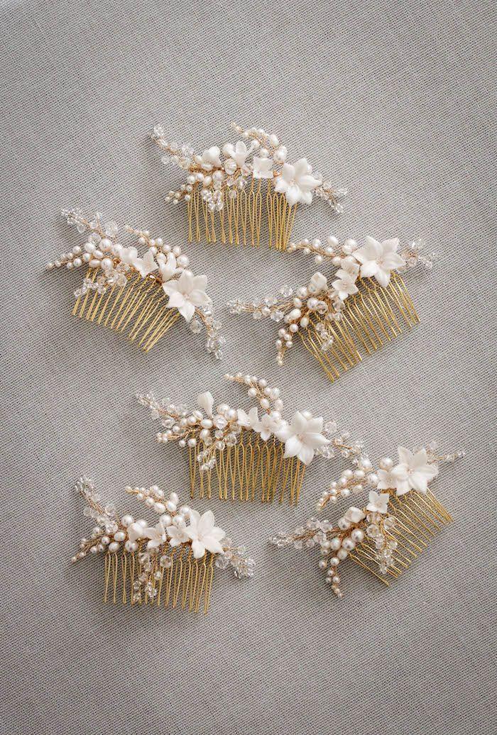 ИВ | жемчуг свадебный гребень - Percy ручной работы | Свадебные головные уборы, фаты и Свадебные аксессуары для волос