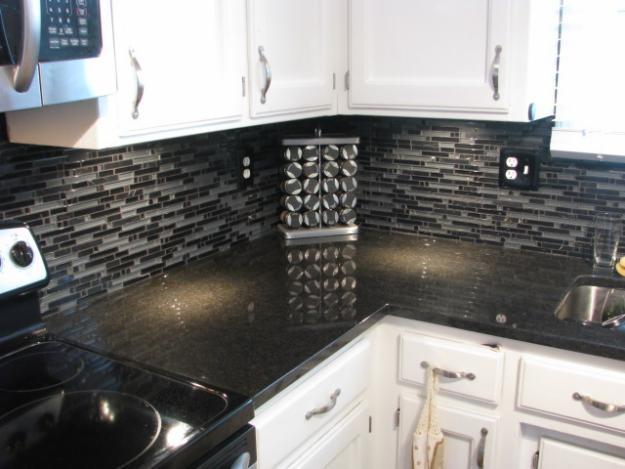 12 best Granite Black Pearl images on Pinterest   Black ... on Backsplash For Black Granite  id=83308