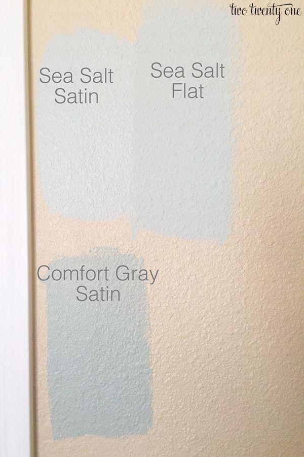Sea salt satin vs sea salt flat sea salt is reading maybe - Satin vs flat paint ...