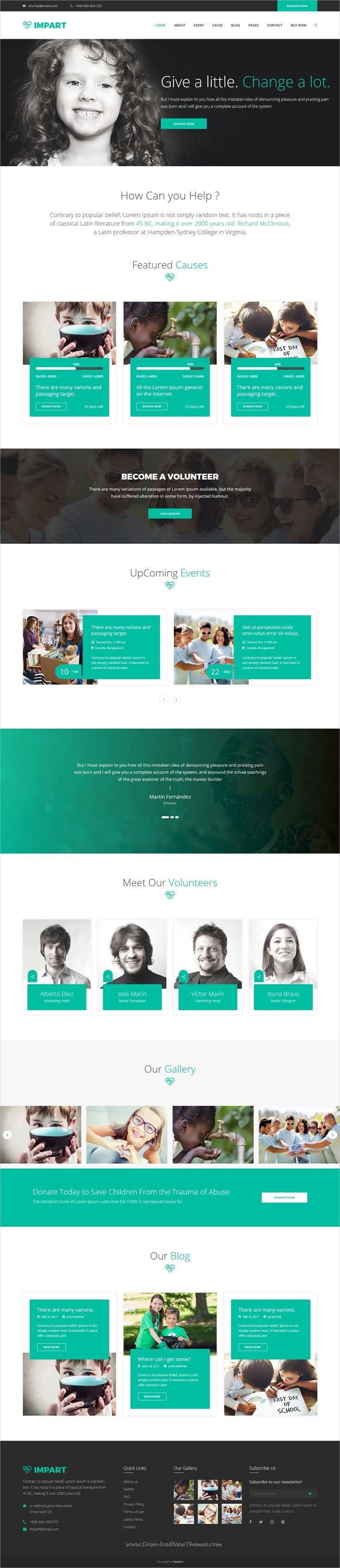 Impart is clean and modern design 2in1 responsive #HTML template for #charity and fundraising website download now..