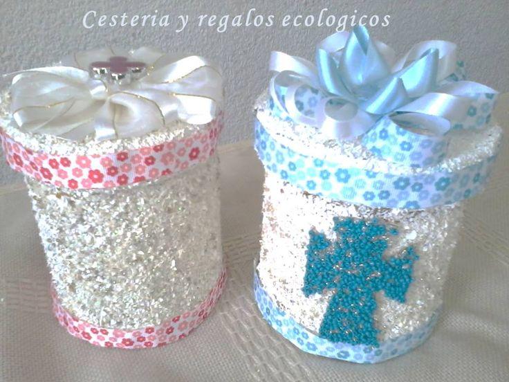Recuerdos para bautizos o primera comunion con botellas de for Decoraciones de botes de plastico