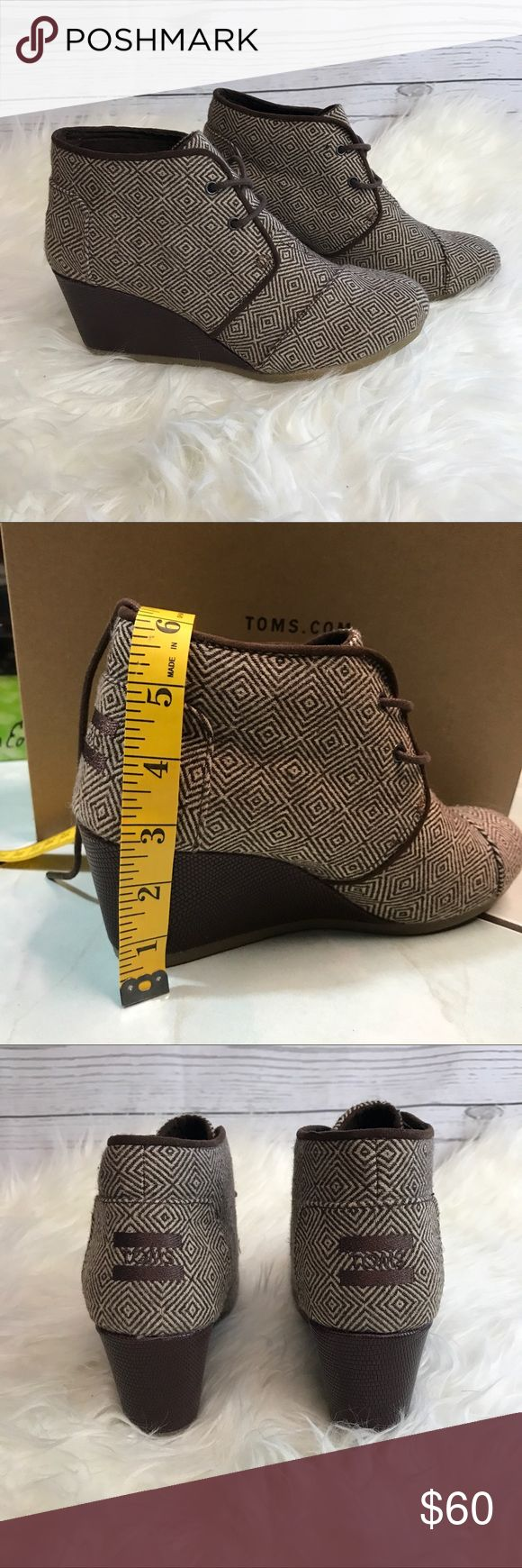 NEW TOMS Desert Wedge Booties - 7.5 Brand new without box. Super cute desert wedge boots in size 7.5. Toms Shoes Wedges