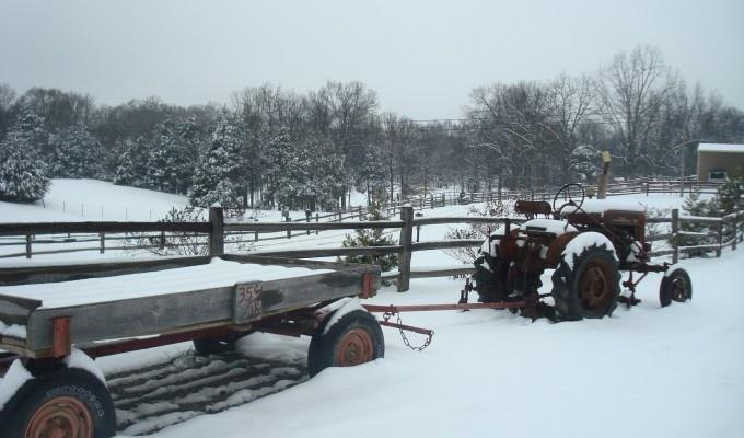 Love this. So snowy and rural. Timeless! Cedar Hill Farm   Hernando, Mississippi