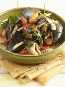 Tom Kha Kai (soep van kokosmelk, kip en koriander)