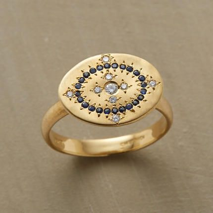 adel chefridi, 18k, diamonds + sapphires