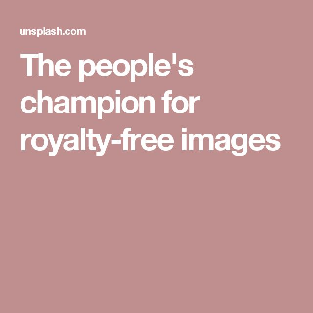 The people's champion for royalty-free images