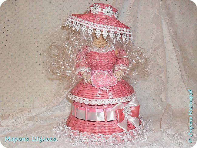 Куклы Поделка изделие Плетение Родом из детства Бумага Бумага газетная Бумажные полосы Кружево фото 7