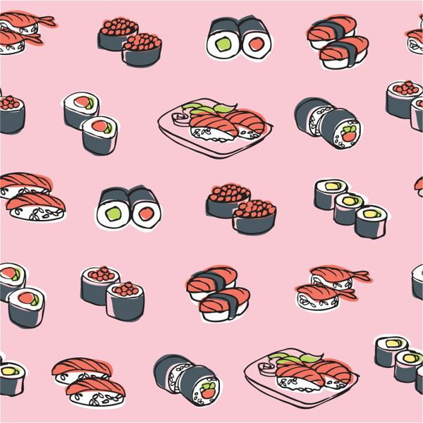 Oriental food - Chinese & Japanese by Ohn Mar Win, via Behance