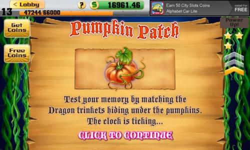 Pumpkin Patch Bonus Game