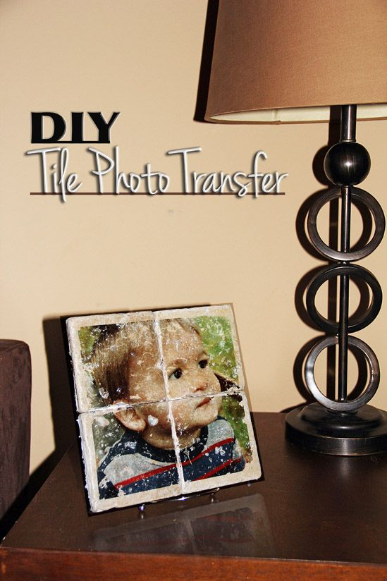 DIY Tile Photo Transfer http://itsalovelylife.com/diy-photo-to-tile-transfer/