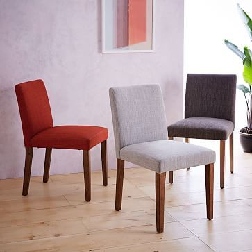 porter side chair single linen weave platinum walnut legs - Nice Chairs For Living Room