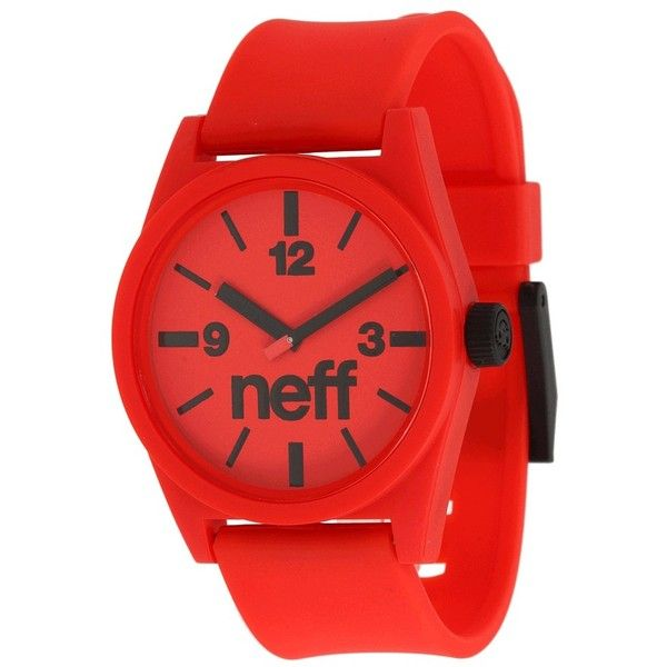 Neff Daily Watch ($30) ❤ liked on Polyvore featuring jewelry, watches, military wrist watch, military watches, military style watches, water resistant watches and analog watches