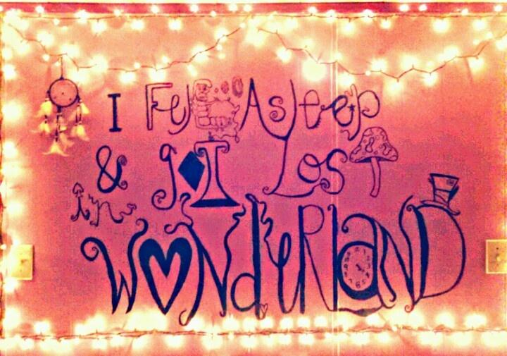 Alice In Wonderland #bedroom #lights #trippy #shrooms