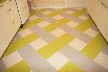 Basket weave VCT flooring pattern: 1940's In-law Cottage - eclectic - kitchen - tampa - Susan Janvrin