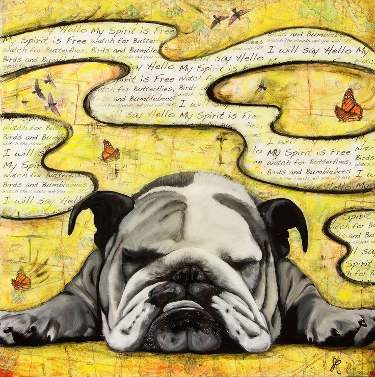 "Bulldog Art Print 12""x12"""