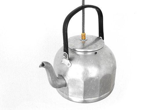 Lighting Fixture Teapot Kettle Pendant Light Kitchen