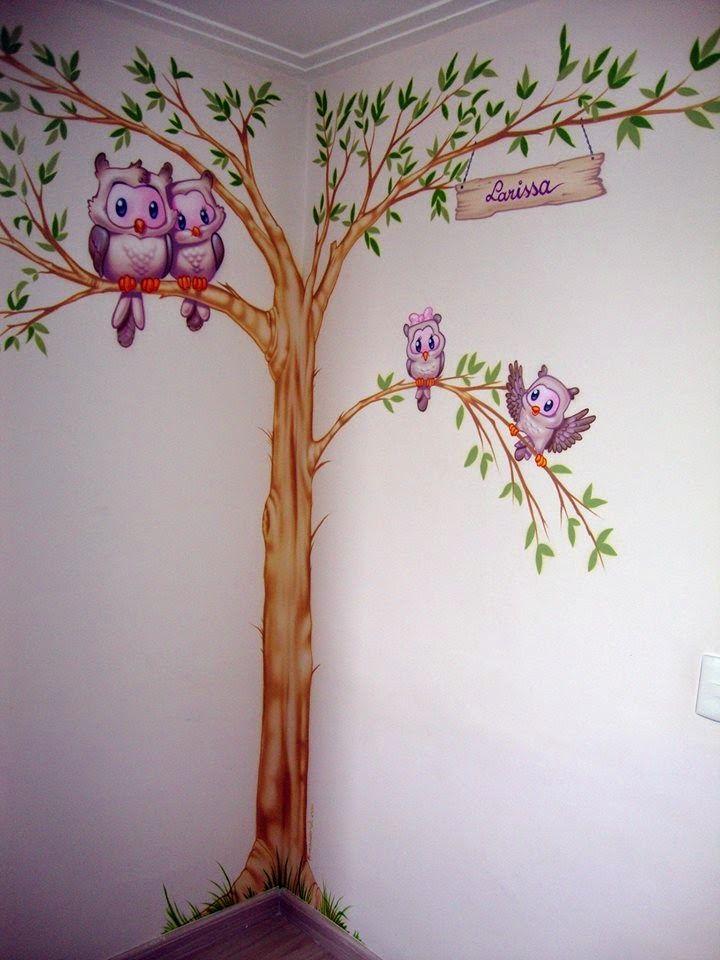 ABC - Pintura em Quarto Infantil - Corujinhas