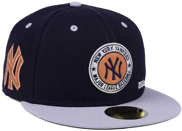 New Era New York Yankees X Wilson Circle Patch 59fifty Fitted Cap Hats For Men Fitted Caps Yankees Hat