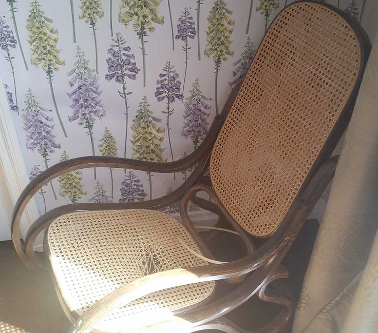 BEFORE: I Made Over This Thonet Bentwood Rocking Chair And Fitted It With A  New