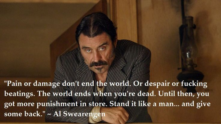 Deadwood.... Al was my favorite by far. He was horrible and became the hero. Wish they would continue the story