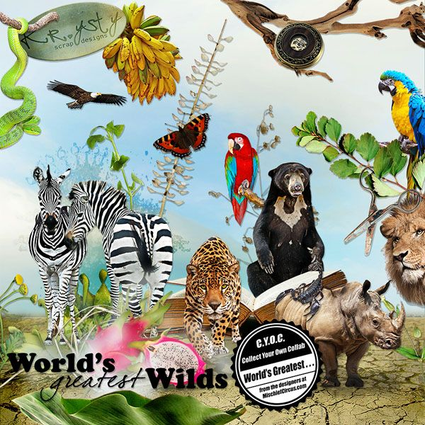 Worlds Greatest-Wilds  #digitalart #digitalscrapbook #digiscrap #digitalscrapbooking #scrapbook #scrapbooking #CYOC #mischiefcircus #wild #animals #wildanimals