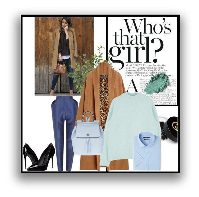 """""""Untitled #258"""" by v-papas on Polyvore featuring The 2nd Skin Co., Gucci, Alberta Ferretti, Dolce&Gabbana, MANGO, Diane James, women's clothing, women, female and woman"""