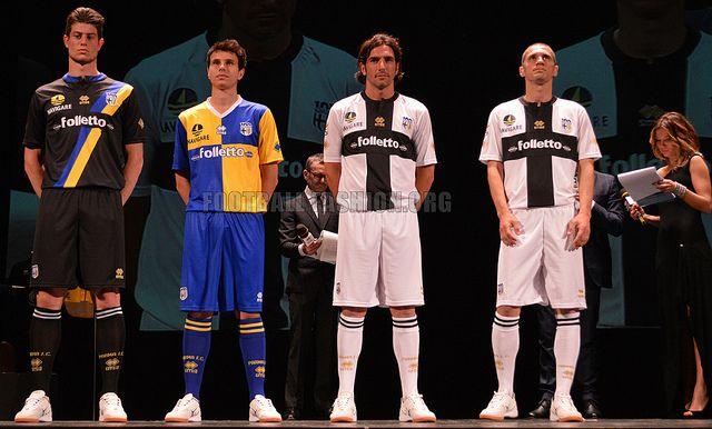 Parma FC 2013/14 Errea Home, Away and Third Kits