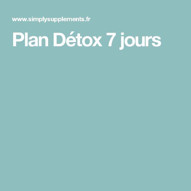 Plan Détox 7 jours