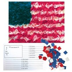 Make this cute American Flag tissue craft with your kids for Memorial Day! Hang it in your classroom or on your door as a reminder of the true meaning of the day. #MemorialDay #crafts
